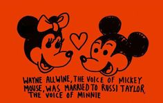 The voice of Mickey Mouse