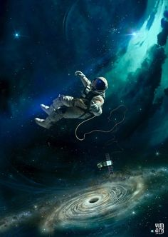 space and outer space, astronomy and astronauts, spacemen and galaxies, stars and nebulas Illustration Arte, Major Tom, Photocollage, Sci Fi Art, Science And Nature, Oeuvre D'art, Trippy, Urban Art, Cosmos