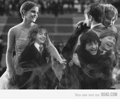 <3 harri potter, books, magic, harry potter cast, friends, emma watson, 10 years, childhood, funny harry potter