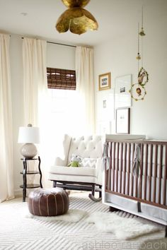#baby #room #nursery #crib #white
