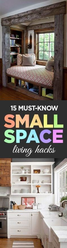15 Must-Know Small Space Living Hacks - Organization Junkie