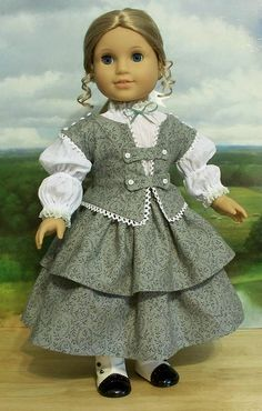1850's 3pc. Ensemble made for Cecile or Marie Grace, via Flickr. Keepersdollyduds
