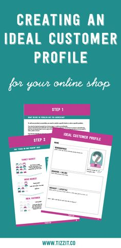 Use this free workbook to define an ideal customer profile for your online shop! Get clarity on who your ideal customer is and make more sales!