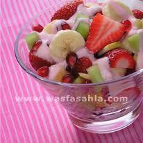 fresh fruit salad with honey yoghurt dressing