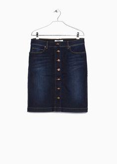 Buttoned denim skirt - Skirts for Women | MANGO