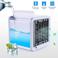VEU Portable 3 in 1 Conditioner Humidifier Purifier Mini Cooler With Usb Cable Arctic Air Humidifier Purifier Mini Cooler air coolers for house air coolers for home air cooler for room Space Air Conditioner, Diy Conditioner, Solar Powered Air Conditioner, Air Cooler Fan, Mini Cooler, Portable Air Cooler, Minimalist Home, Shopping, Ideas