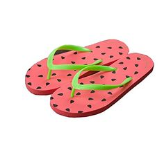 af99466833b Women Girls Printed Flip Flops Lightweight Flip Flops Beach Sandals  Assorted colors watermelon    Be