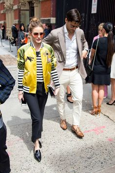 Olivia Palermo and Johannes Huebl are seen in NoHo on May 23 2017 in New York City