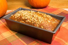 Pumpkin Quinoa Breakfast Loaf from dr oz.  No added sugar or wheat
