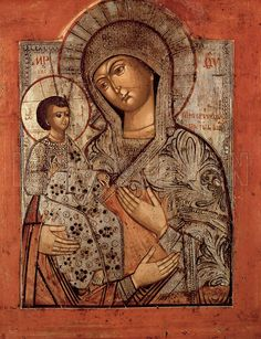 Icon of the Blessed Virgin with Three Hands. Artist Novgorod School