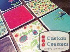 diy custom coasters, crafts