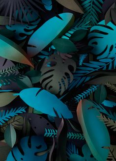 Visualgraphc - Hand made paper jungle set design by Adrian & Gidi