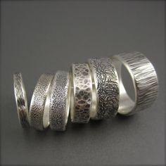 Textured Darkened Silver Wedding Band – Beth Millner Jewelry