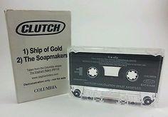 RARE-Clutch-Ultraspank-Split-Sampler-Demo-Cassette-Tape-The-Elephant-Riders