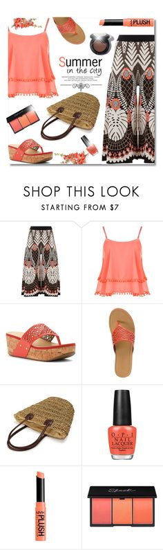 """""""Summer In The City"""" by truthjc ❤ liked on Polyvore featuring Temperley London, WearAll, Kenneth Cole Reaction, Kenneth Cole, OPI, Love Quotes Scarves and strawbags"""