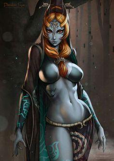 Midna - Normal form. Legend of Zelda The Twilight Princess