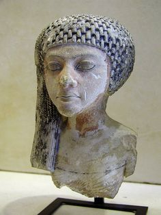 Head of an Amarna Princess, possibly Meritaten.  Now in the Louvre.