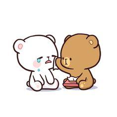 Milk & Mocha's creators on making the most romantic app stickers ever Cute Bunny Cartoon, Cute Kawaii Animals, Cute Couple Cartoon, Cute Cartoon Pictures, Cute Love Pictures, Cute Love Gif, Cute Love Cartoons, Cute Bear Drawings, Cute Cartoon Drawings
