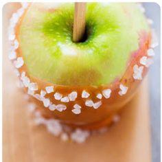 Caramel apple with sea salt