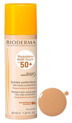 Crème solaire teintée peau mixte et grasse Photoderm NUDE Touch indice 50 Teinte Dorée