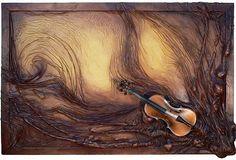 Atelier.Rynarec / Kožený umělecký obraz - Harmonie Painting, Projects, Art, Atelier, Log Projects, Painting Art, Paintings, Kunst, Paint