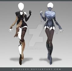 (OPEN) Adoptable Outfit Auction 145 - 146 by Risoluce.deviantart.com on @DeviantArt
