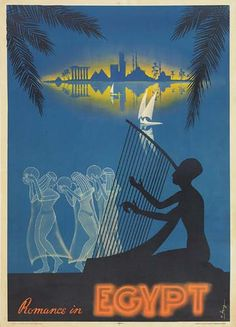 Vintage Travel Poster - Romance in Egypt.