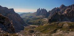 Spectacular view in the dolomites of selva di Val Gardena Italy