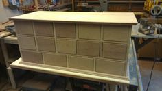 Reproduction storage cabinet for Black Creek Pioneer Village. Solid mahogany.