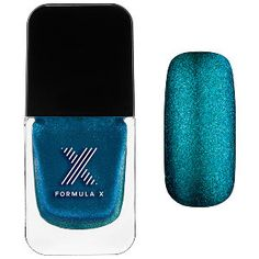 Formula X Liquid Crystals in Photoelectric - purple + blue micro glitter in sheer bright blue #sephora