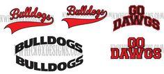 Bulldogs School Spirit SVG DXF SCAL Cricut by KWHickoxDesigns
