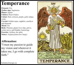 Holistic Change with the Tarot Temperance Card