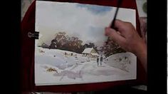 A Christmas Tree - watercolor painting process - YouTube