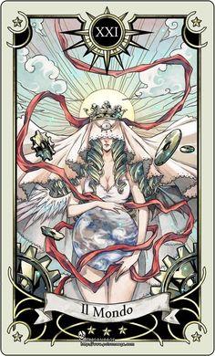 Tarot card 21- the world by rann-poisoncage.deviantart.com on @DeviantArt