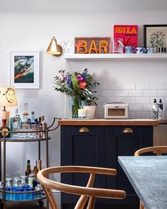 House to Home: Lucy Williams Kitchen Wall Art, Kitchen Dining, Kitchen Decor, Soho House, Flat Ideas, House Layouts, Apartment Living, Kitchen Interior, Decoration
