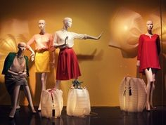 Window display is the art of displaying store merchandise in the store window. It is to draw the public's attention and to stimulate their interest, feelings.