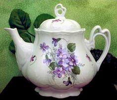Ashely Wayside Pansy Teapot