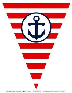Free Nautical Party Printables From Ian & Lola Designs intended for Nautical Banner Template - Business Template Ideas Nautical Mickey, Nautical Banner, Nautical Clipart, Nautical Party, Sailor Birthday, Sailor Party, Sailor Theme, Geek Birthday, Tangled Birthday
