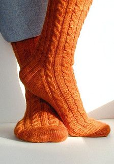Ravelry: Rib and Cable Socks pattern by Nancy Bush Cable Knit Socks, Crochet Cable, Wool Socks, My Socks, Knitting Books, Hand Knitting, Knitting Patterns, Knitting Ideas, Crochet Patterns