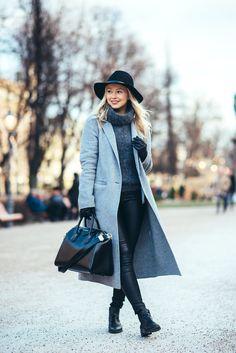 Grey Wool Coat Outfit Jonnamaista