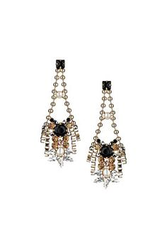 Premium Rhinestone Drop Earrings #DearTopshop