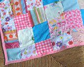 Multi patch work cot or pram blanket