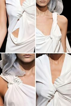 White porcelain hand details from Hussein Chalayan S/S 2010 via Skelerope, on sale at Maryam Nassir Zadeh. Couture Mode, Couture Fashion, Fashion Art, Runway Fashion, High Fashion, Fashion Show, Fashion Outfits, Womens Fashion, Fashion Design