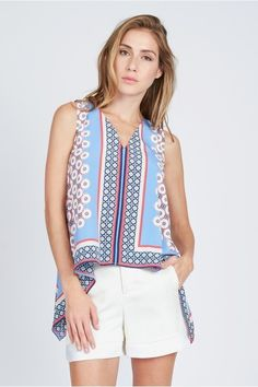 Printed Trapeze Top