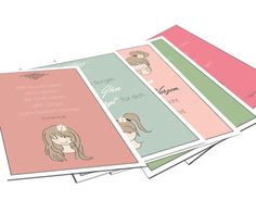 Postkarten-Set Mia Serie  5 Karten im Set
