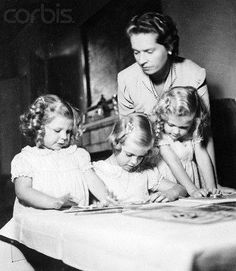 December 3, 1941. Princess Sibylla of Saxe-Coburg and Gotha, Great Granddaughter of HM Queen Victoria, was photographed with her daughters Princess Désirée of Sweden, currently Princess Désirée, Baroness Silfverschiöld, Princess Margaretha of Sweden and Princess Birgitta, at their home in Haga Palace, near Stockholm, Sweden.   Her family sequence goes as follows Queen Victoria (Great Grandmother) Prince Leopold, Duke of Albany (Grandfather)  Charles Edward, Duke of Saxe-Coburg and Gotha…