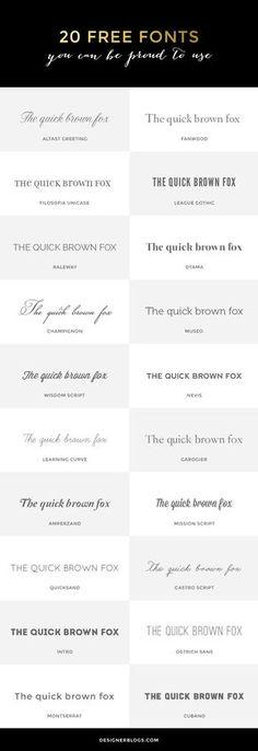 20 Free Fonts That Won't Fail You   http://DesignerBlogs.com
