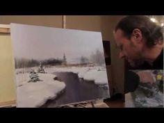 Научится рисовать Полный видеоурок И.Сахарова 'ЗИМНИЙ ПЕЙЗАЖ' - YouTube