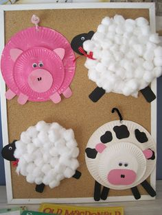 Paper Plate Farm Animals - fun craft...for those with grand kids...and kids!