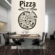 Wall Decal Vinyl Sticker Decals Art Decor Design Pizza interior Pizzeria Resaurant Italy Kitchen Food inscription signboard Fun M1519 DecorWallDecals http://www.amazon.com/dp/B00Z6IGP64/ref=cm_sw_r_pi_dp_F5xDvb12SNZKN